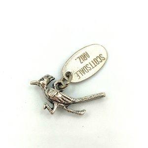 Jewelry - Sterling Silver Roadrunner Bird Charm Arizona Tag